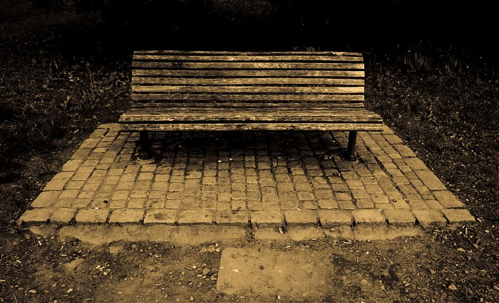 photoblog image Lonely Bench